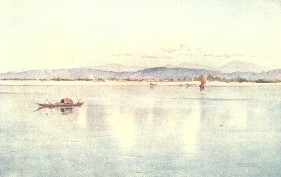 Burma, Painted and Described - The River at Pakokku (1905)