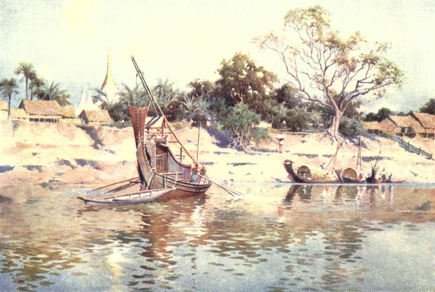 Burma, Painted and Described - The Irrawaddy Banks near Myin-gyan (1905)