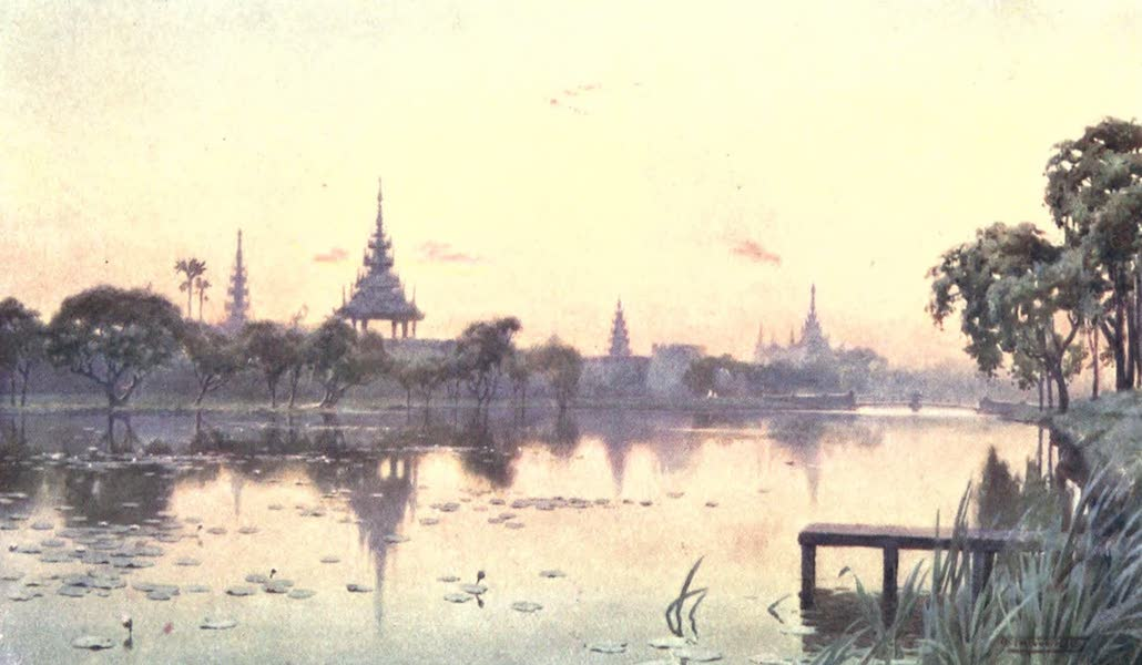 Burma, Painted and Described - The Moat at Mandalay (1905)