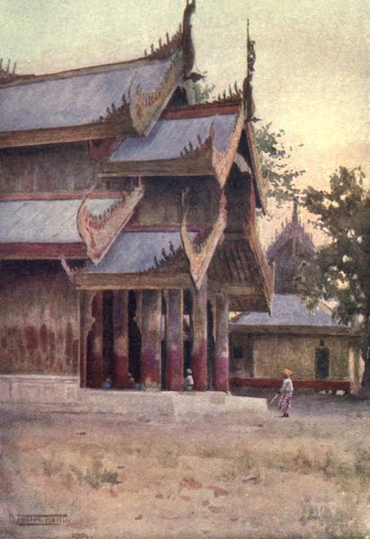 Burma, Painted and Described - A Portico of the Palace - Mandalay (1905)