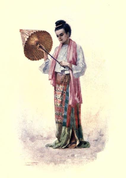 """Burma, Painted and Described - """"En Promenade"""" (1905)"""