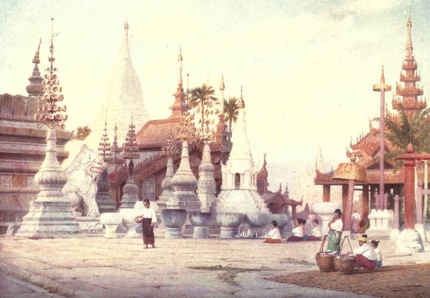 Burma, Painted and Described - Platform of the Shwe Zigon Pagoda - Pagan (1905)