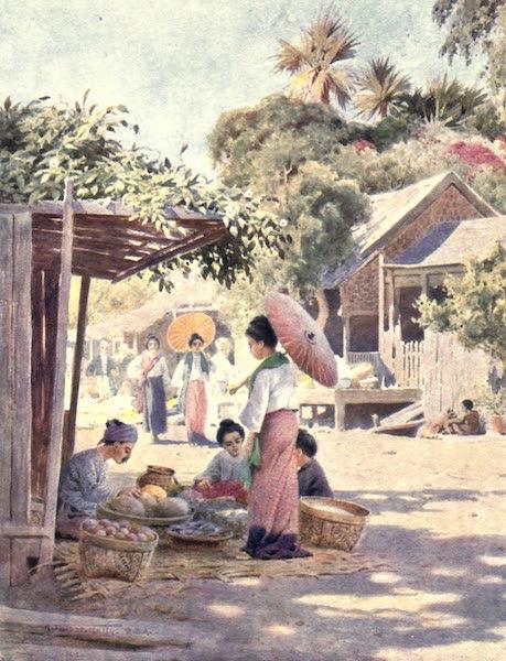 Burma, Painted and Described - Street in Nyaung-u (1905)