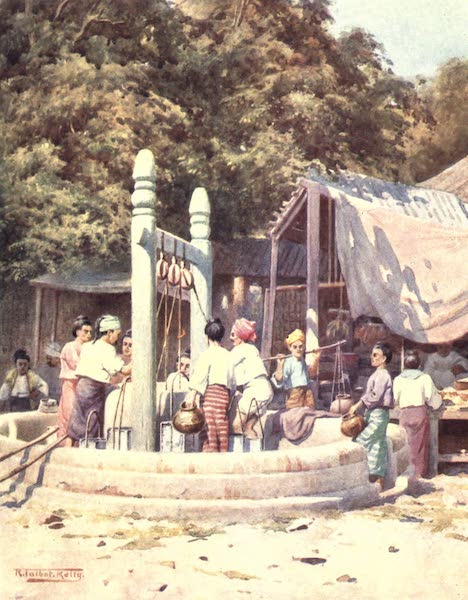 Burma, Painted and Described - At the Well (1905)