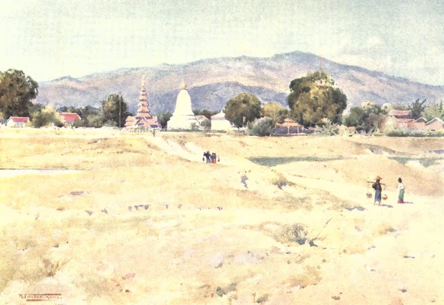 Burma, Painted and Described - Bhamo from the Fort (1905)