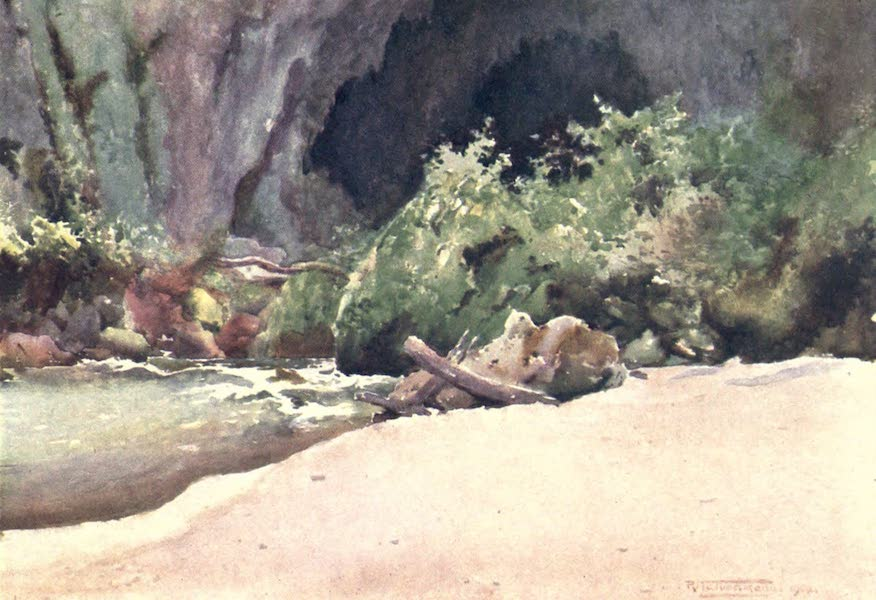 Burma, Painted and Described - The Bottom of Goekteik Gorge (1905)