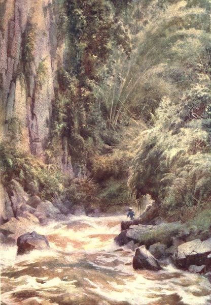 Burma, Painted and Described - A Mountain Torrent (1905)