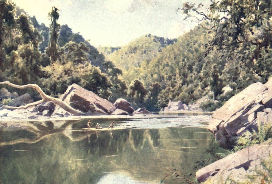 Burma, Painted and Described - Rafting down the Nan-tu River (1905)