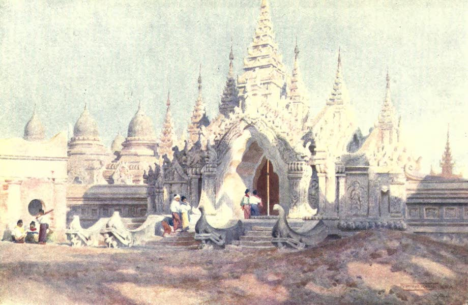 Burma, Painted and Described - Entrance to the Kuthodau-Mandalay (1905)