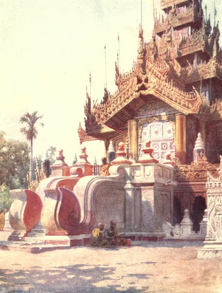 Burma, Painted and Described - Portico of the Queen's Golden Monastery-Mandalay (1905)