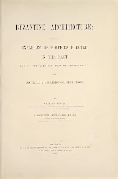 Byzantine Architecture - Title Page (1864)