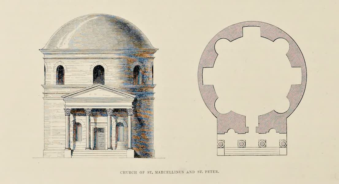 Byzantine Architecture - Church of St. Marcellinus and St. Peter (1864)