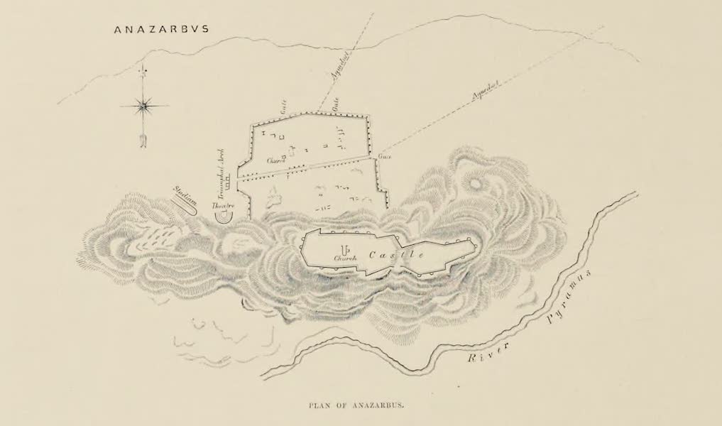 Byzantine Architecture - Plan of Anazarbus (1864)