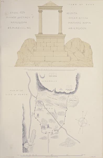 Byzantine Architecture - Plan of the City of Perga - Tomb of Dana (1864)