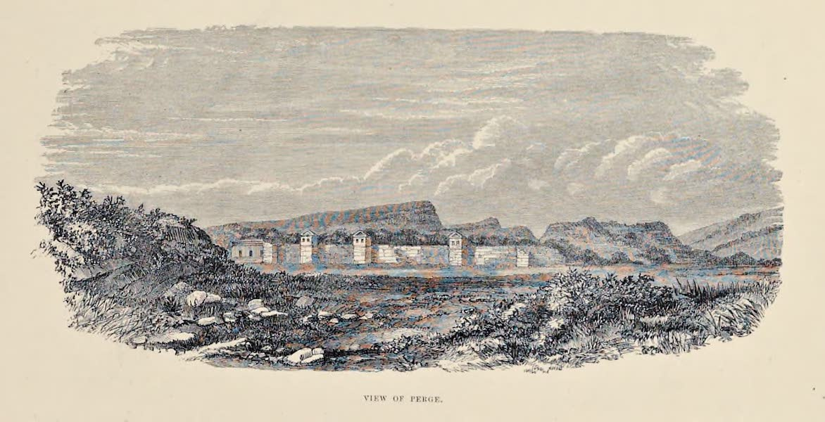 Byzantine Architecture - View of Perge (1864)