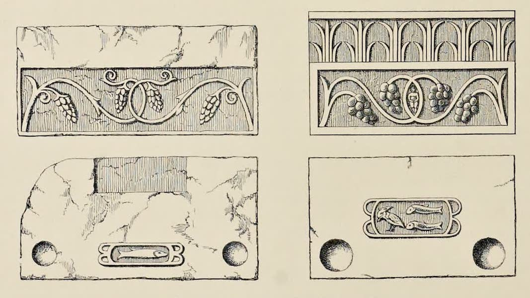 Byzantine Architecture - Christian Tombstones at Sour Ghozlan (Auzia), Africa  (1864)