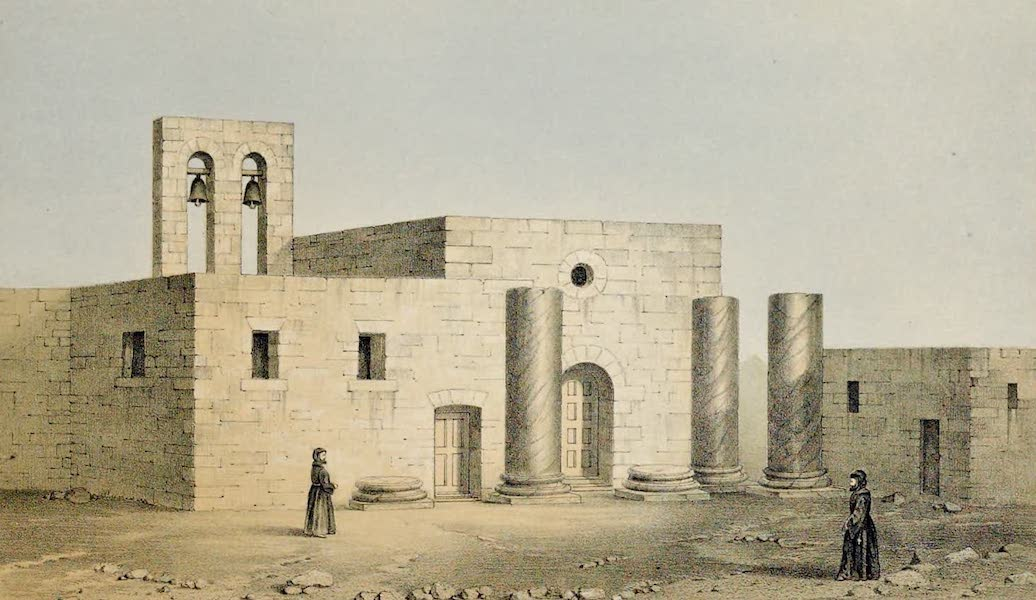 Byzantine Architecture - View of the Temple of Balmarcos at Cavesus (now Deir el Kala'ah) (1864)