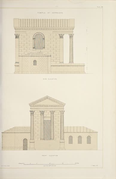 Byzantine Architecture - Temple at Vernegue - Elevations (1864)