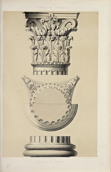 Byzantine Architecture - Temple at Vernegue - Details of the Order (1864)