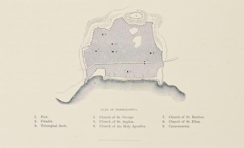 Byzantine Architecture - Plan of Thessalonica (1864)