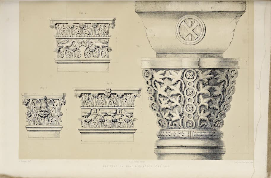 Byzantine Architecture - The Church of St. Demetrius at Thessalonica - Various Capitals [II] (1864)