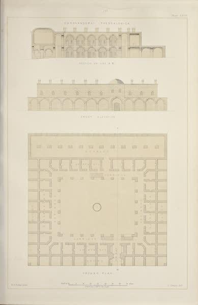 Byzantine Architecture - Caravanserai at Thessalonica (1864)
