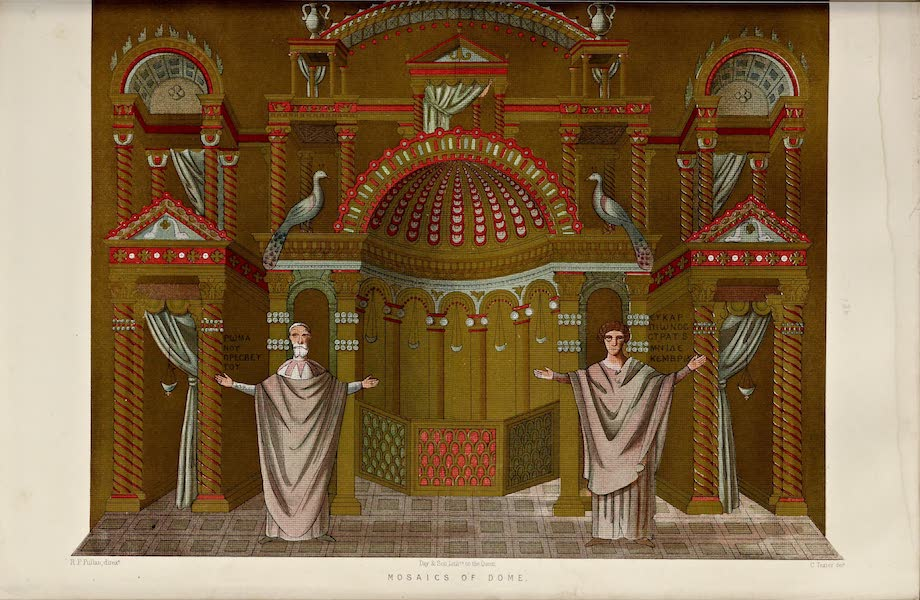 Byzantine Architecture - The Church of St. George, Thessalonica - Mosaics of the Dome [I] (1864)