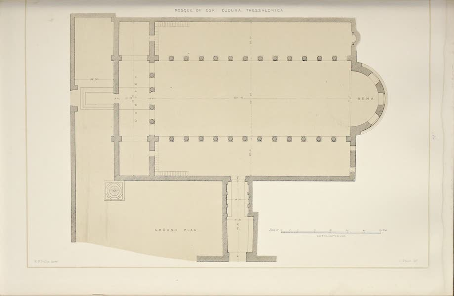 Byzantine Architecture - Eski Djouma, Thessalonica - Plan (1864)