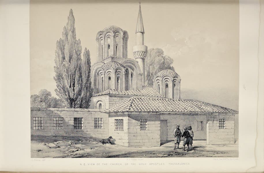 Byzantine Architecture - The Church of the Holy Apostles, Thessalonica - North-East View (1864)