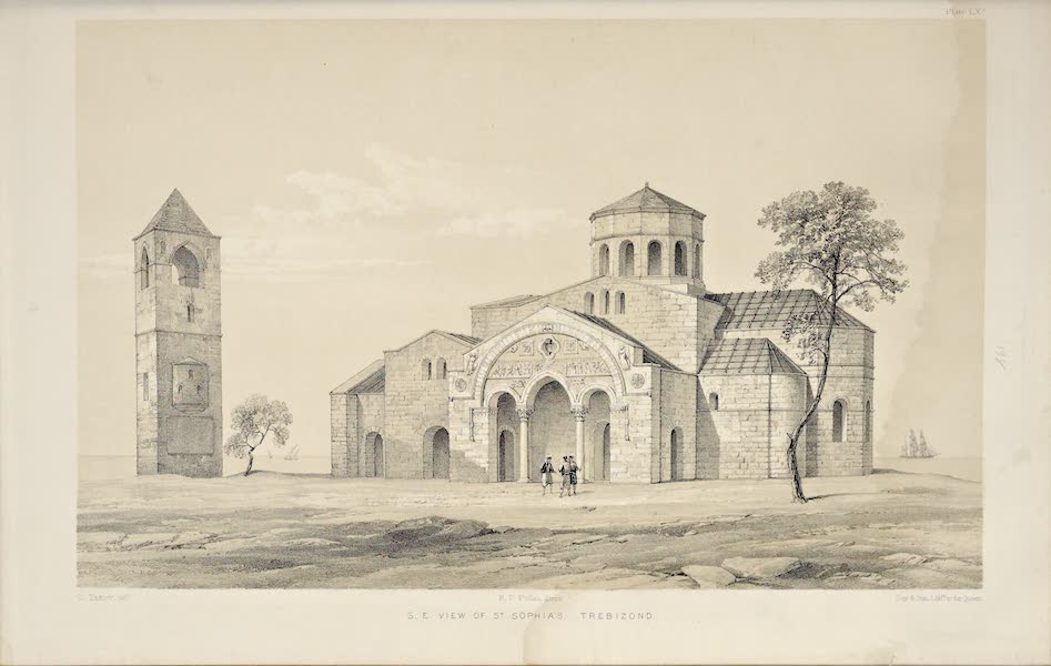 Byzantine Architecture - The Church of St. Sophia at Trebizond - South-West View (1864)
