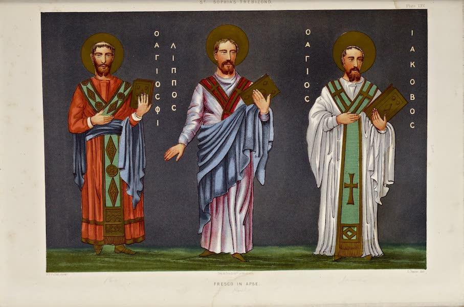 Byzantine Architecture - The Church of St. Sophia at Trebizond - Fresco in the Apse (1864)