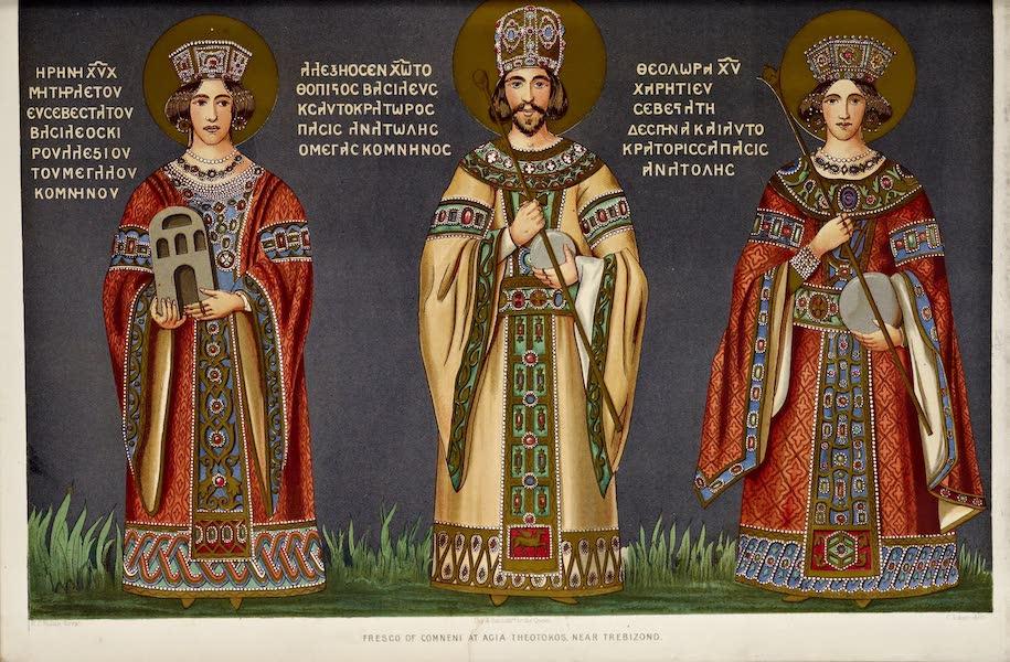 Byzantine Architecture - Frescoes in a Monastery near Trebizond (1864)