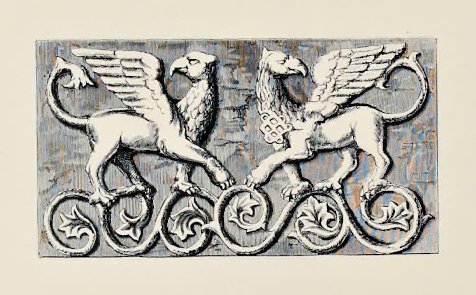 Byzantine Architecture - Tail-Piece, from a Byzantine Bas-Relief (1864)