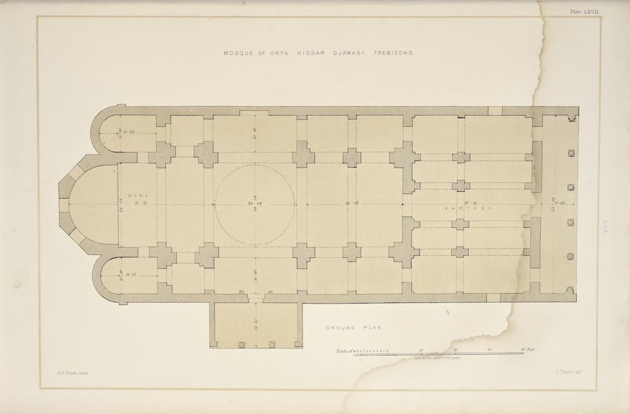The Mosque of Orta Hissar, Trebizond - Plan
