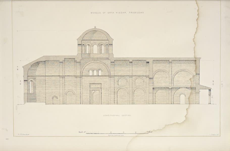 Byzantine Architecture - The Mosque of Orta Hissar, Trebizond - Section (1864)
