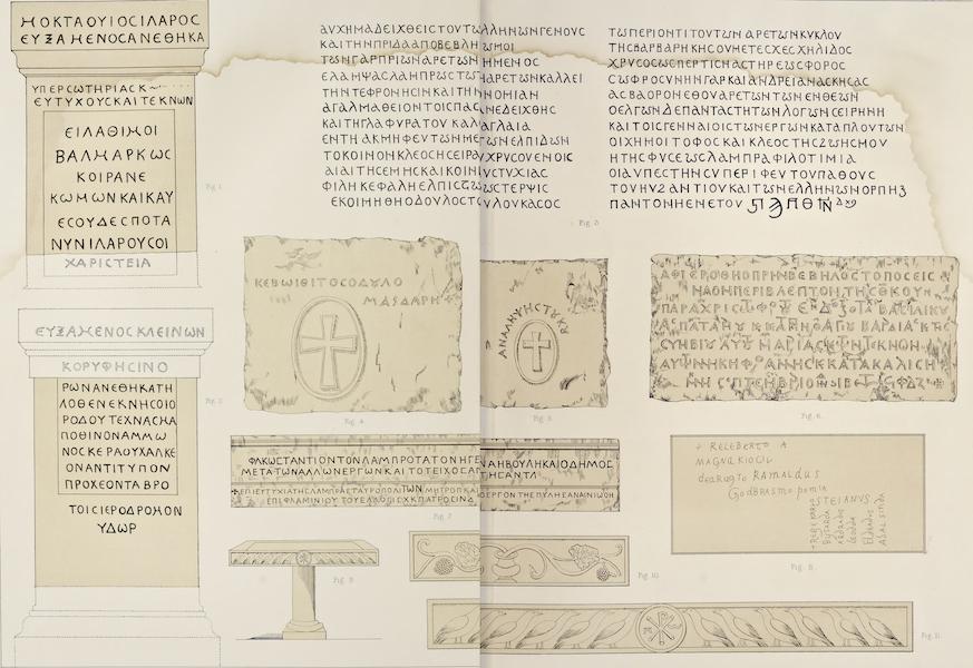 Byzantine Architecture - Various Inscriptions (1864)