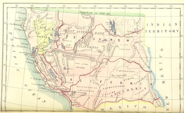 California: Its Past History; Its Present Position; Its Future Prospects - Map of Western North America (1850)