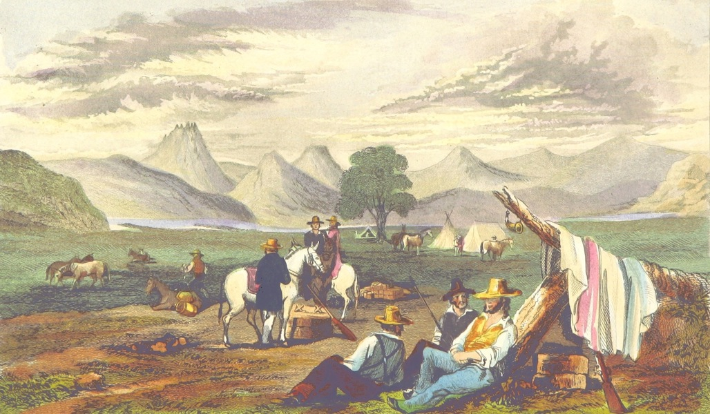 California: Its Past History; Its Present Position; Its Future Prospects - Encampment in the Valley of San Francisco (1850)