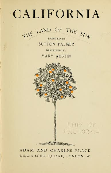 California : The Land of the Sun - Title Page (1914)