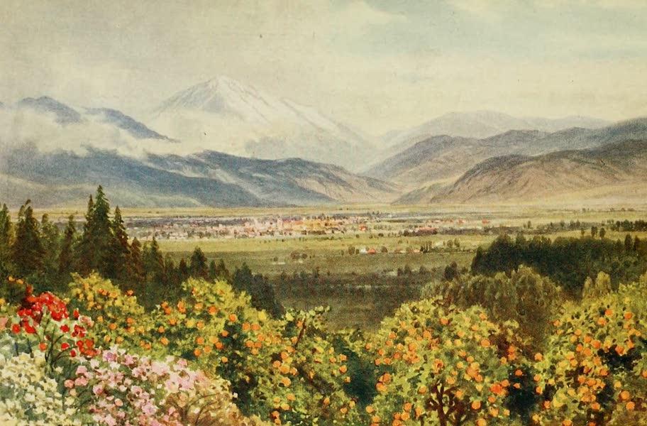 California : The Land of the Sun - Redlands, looking toward San Bernardino Range (1914)