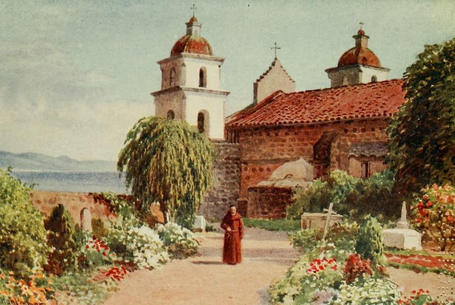 California : The Land of the Sun - The Cemetery, Santa Barbara Mission (1914)