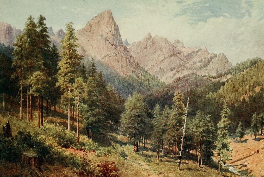 California : The Land of the Sun - Castle Crag, Rattlesnake Canon (1914)