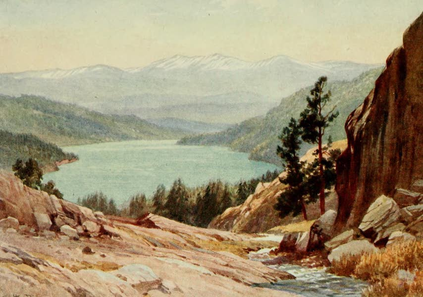 California : The Land of the Sun - Donner Lake, on the old Emigrant Trail (1914)
