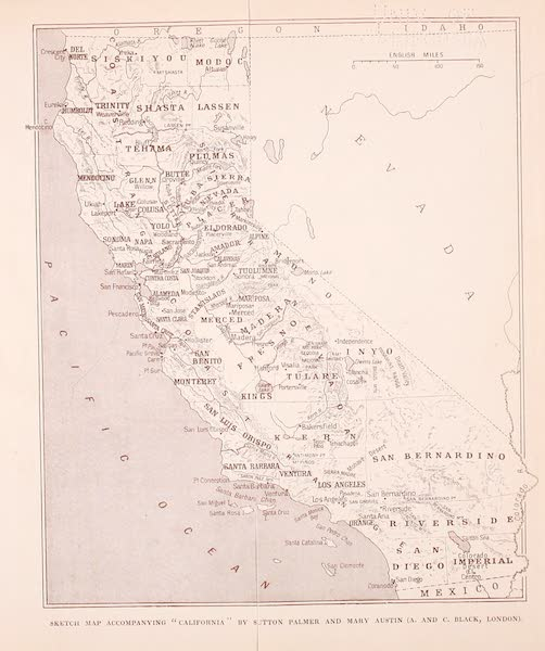 California : The Land of the Sun - Sketch Map of California (1914)