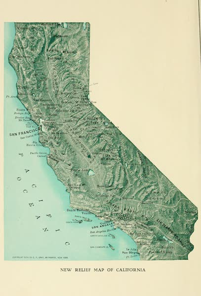 California the Wonderful - Relief Map of California (1914)