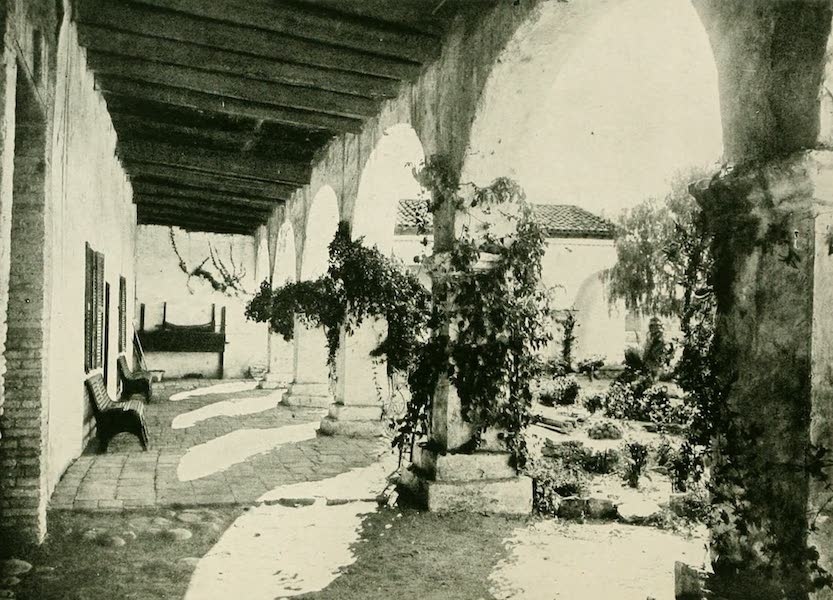 California the Wonderful - The outer corridors of the Mission San Juan Capistrano (1914)