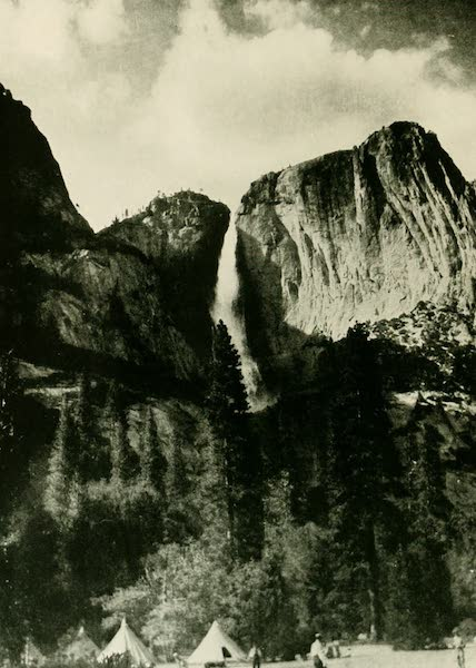 California the Wonderful - The Falls of Yosemite pour through a gap in the wall, plowed out by a glacier ages ago (1914)