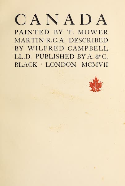 Canada, Painted and Described - Title Page (1907)