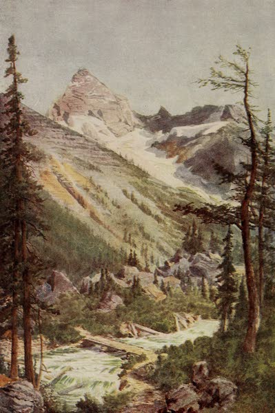 Canada, Painted and Described - Illecillewaet below Sir Donald (1907)