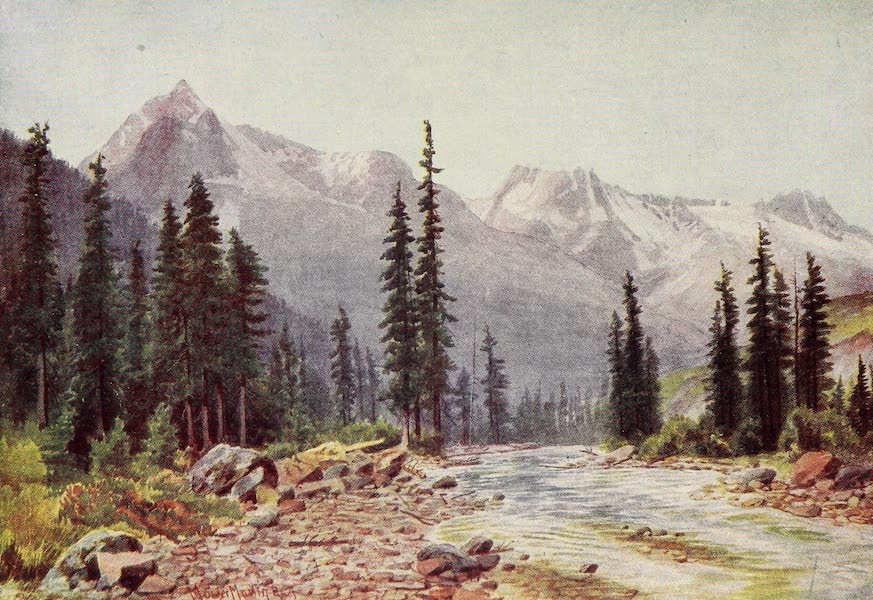 Canada, Painted and Described - Mount Cheops and the Hermit Range (1907)